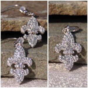 Fleur De Lis Earrings & Charm Pendant